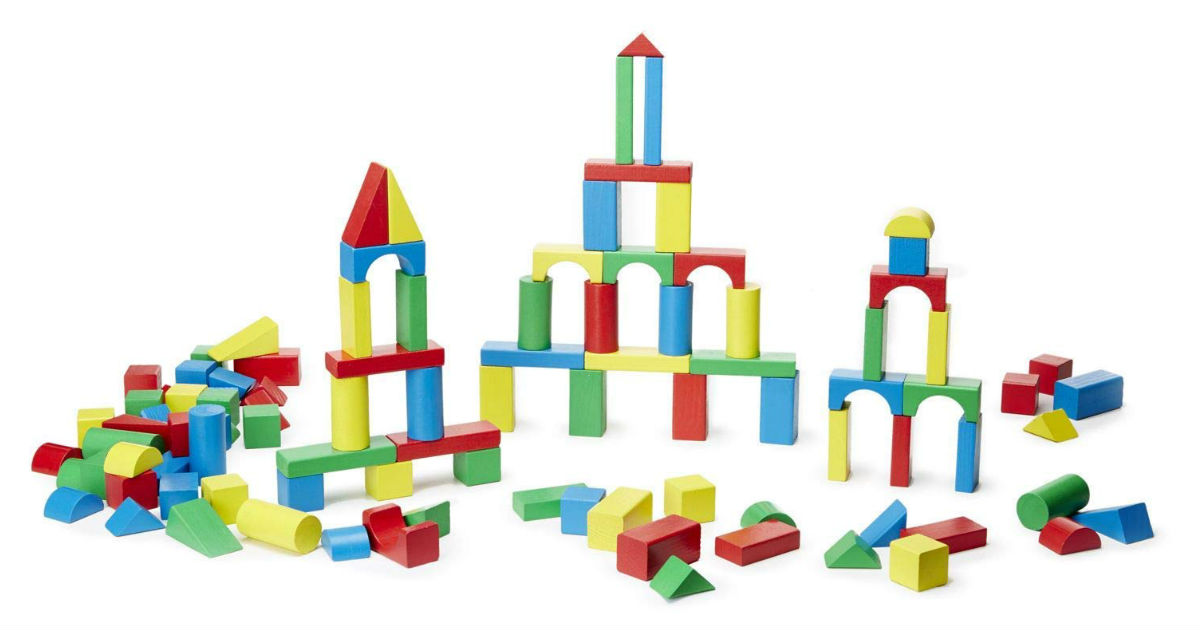 Melissa & Doug Wooden Building Blocks ONLY $20.50 (Reg $40)