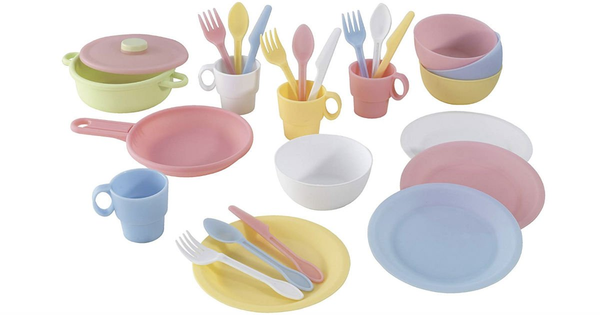 KidKraft 27-Piece Cookware Set - Pastel ONLY $8.40 (Reg $25)