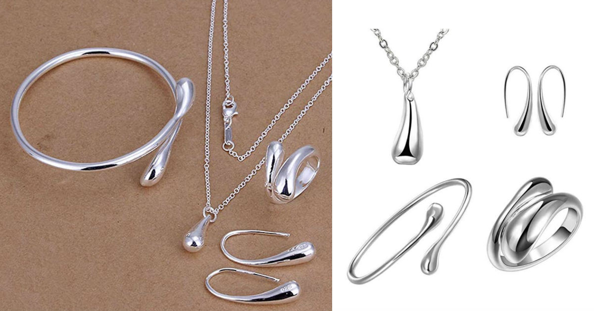 Teardrop Jewelry 4-Piece Gift Set ONLY $7.80 Shipped