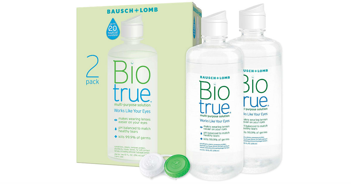 Biotrue Contact Lens Solution 2-Pack ONLY $9.18 Shipped