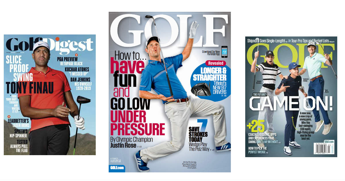 Complimentary 1 Year Subscription to Golf Magazine