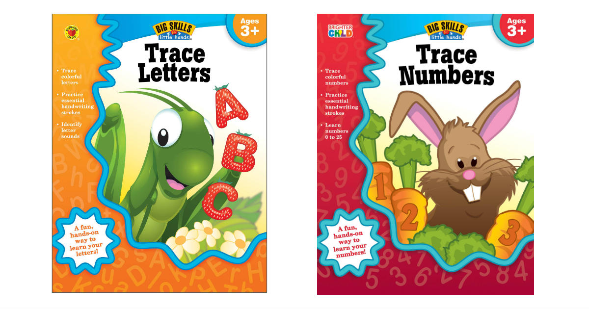 Trace Letters & Numbers Workbooks ONLY $1.99 on Amazon