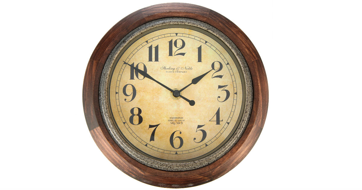 Rustic Wood Finish Wall Clock ONLY $4.48 at Walmart