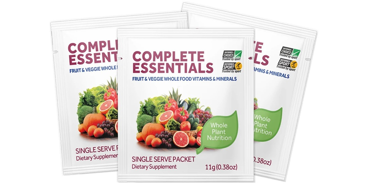 Free 3 Pack of Complete Essentials Vitamin Packets