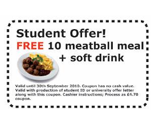 Ikea food coupon
