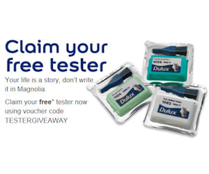 secure a free dulux paint tester sample