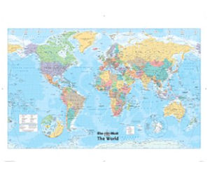 Free giant glossy world map wallchart with the mail on sunday free giant glossy world map wallchart with the mail on sunday gumiabroncs Images